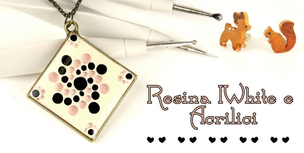 Presentazione Resina IWhite e Tutorial Ciondolo Dots Painting