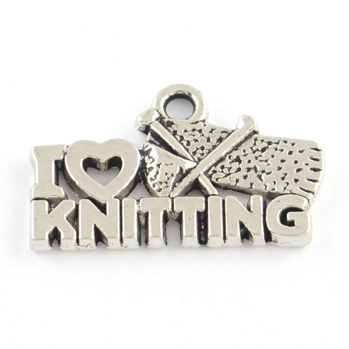 "6 Charm ""I love knitting"""