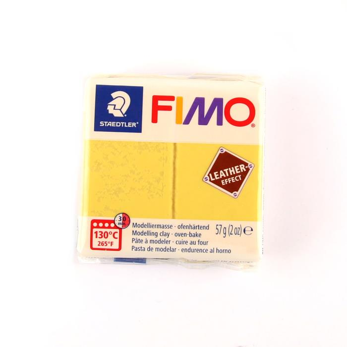 Fimo leather 57gr n. 109 - GIALLO ZAFFERANO