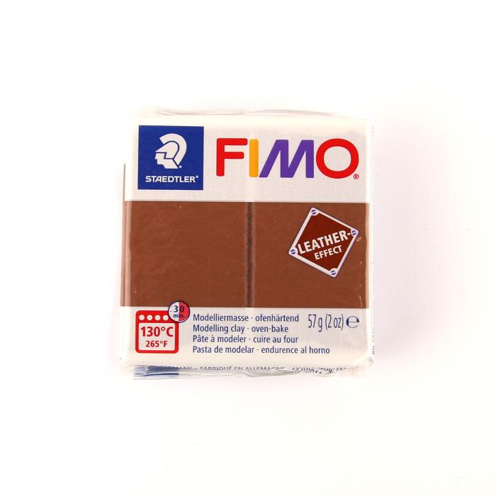 Fimo leather 57gr n. 779 - NOCE