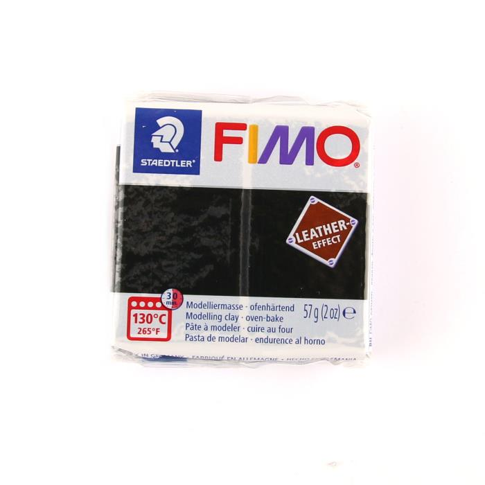 Fimo leather 57gr n. 909 - NERO