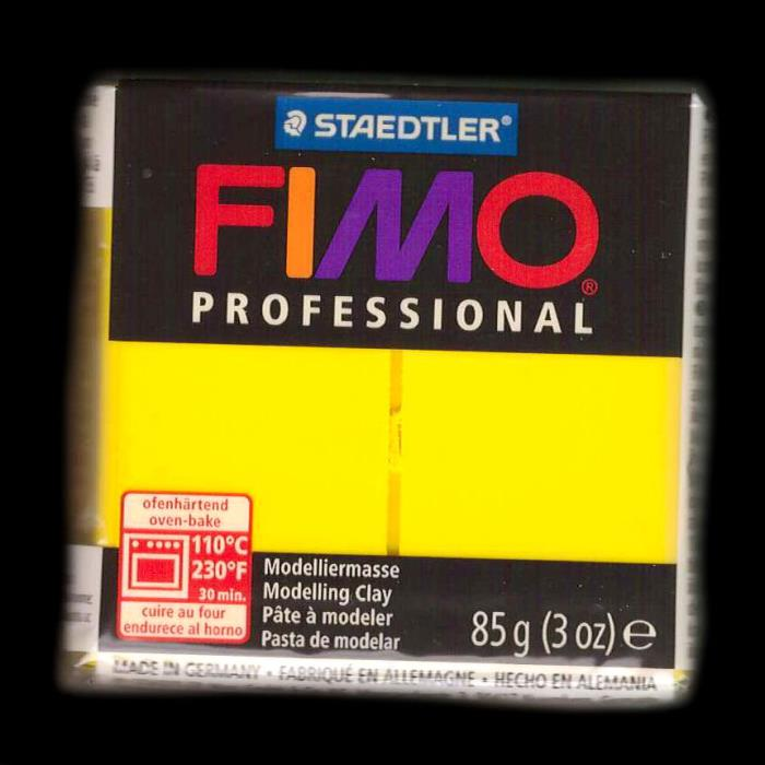 Fimo professional - n. 100 - TRUE YELLOW