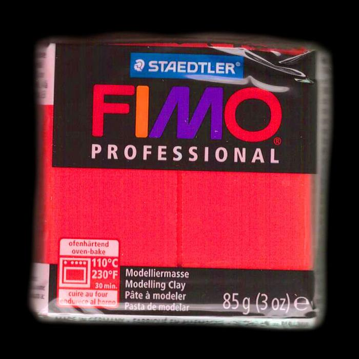 Fimo professional - n. 200 - TRUE RED