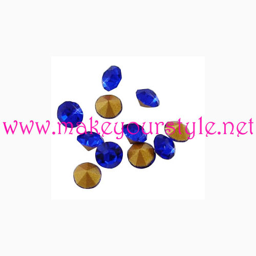Strass in vetro forma diamante 3,5mm - colore: BLU