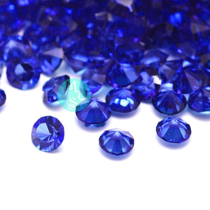 100 Strass in resina . forma diamante 3mm - colore: BLU