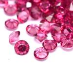 100 Strass in resina . forma diamante 3mm - colore: FUCSIA