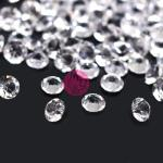 100 Strass in resina . forma diamante 3mm - colore: CRYSTAL