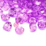 100 Strass in resina . forma diamante 3mm - colore: VIOLA