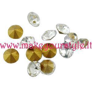 Strass in vetro forma diamante 3,5mm - colore: CRISTALLO